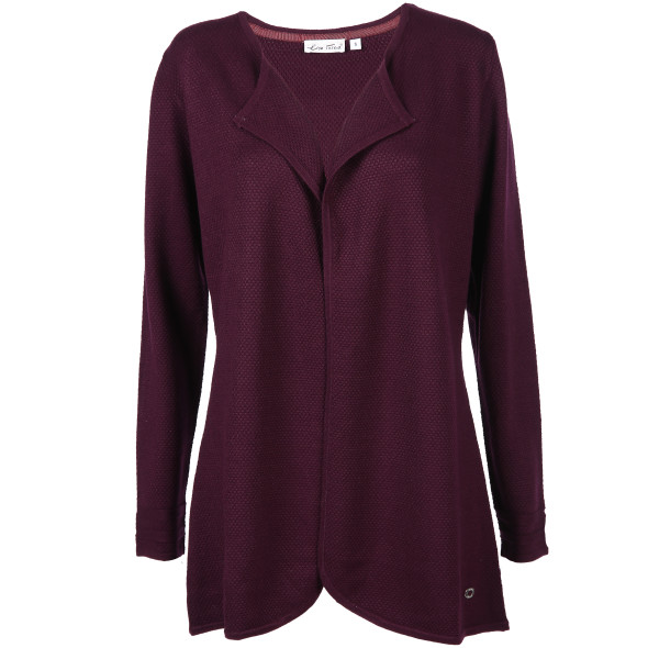 Damen Cardigan in Waffel Optik