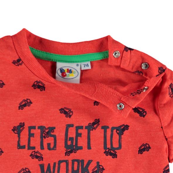 Baby Langarmshirt mit Allover Print