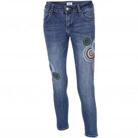 Damen Hose mit Applikation und Glitzernieten