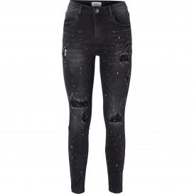 Damen Slim Fit Jeans in Used-Optik