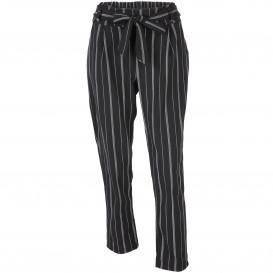 Damen Hose mit Streifen und Bindegürtel