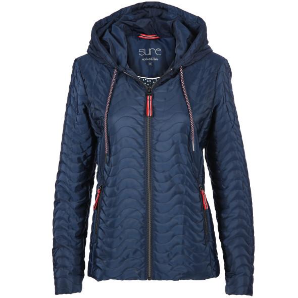 Damen Jacke in leichter Qualität mit Kapuze