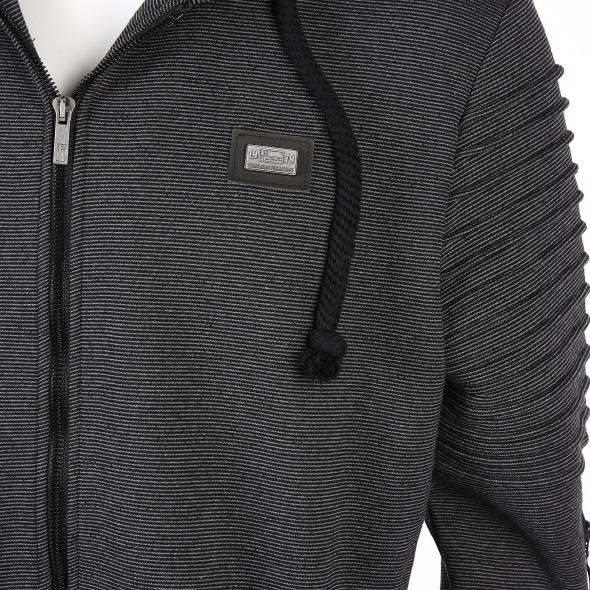 20859a95a019 Herren Sweatjacke mit Kapuze (Grau)   AWG Mode