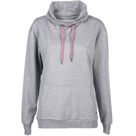 Damen Sweatshirt mit Turtle Neck Kragen