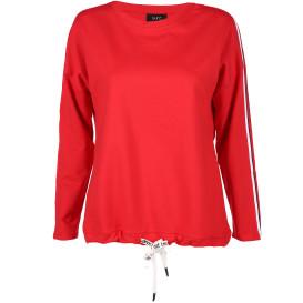 Damen Sweatshirt mit Trikotstreifen