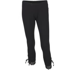 Damen Capri Leggings mit Spitze