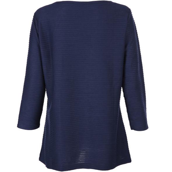 Damen Struktur Shirt mit 3/4 Ärmel