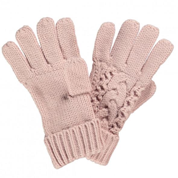 Damen Handschuhe im Zopfmuster