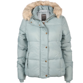 Damen Jacke mit Kapuze und Fellimitat