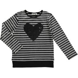 Mädchen Sweatshirt mit Wendepaillettenmotiv