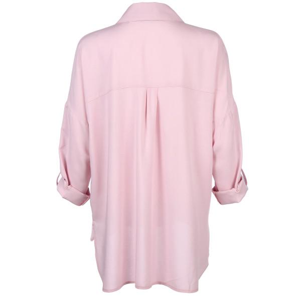 Damen Bluse mit Brusttasche in Oversize Form