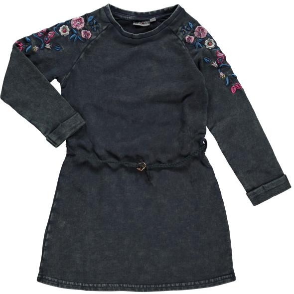 Mädchen Sweatkleid mit Blumenstickerei