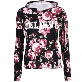 Damen Sport Shirt mit floralem Print