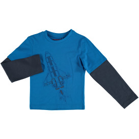 Kinder Langarmshirt im 2in1 Look