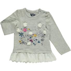 Baby Mädchen Langarmshirt mit Blumenprint