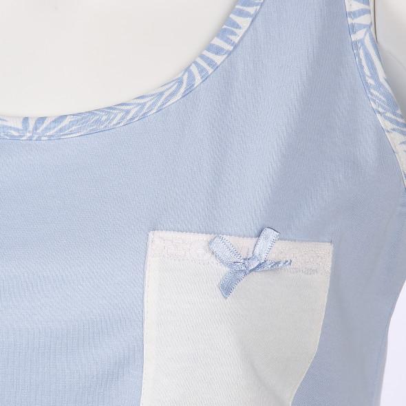 Damen Schlaftop mit Brusttasche