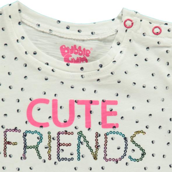 Mädchen T-Shirt  mit bunten Streifen