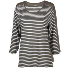 Damen Basic Shirts im 2er Pack mit 3/4 langem Arm