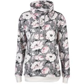 Damen Sweatshirt mit Blumen Print