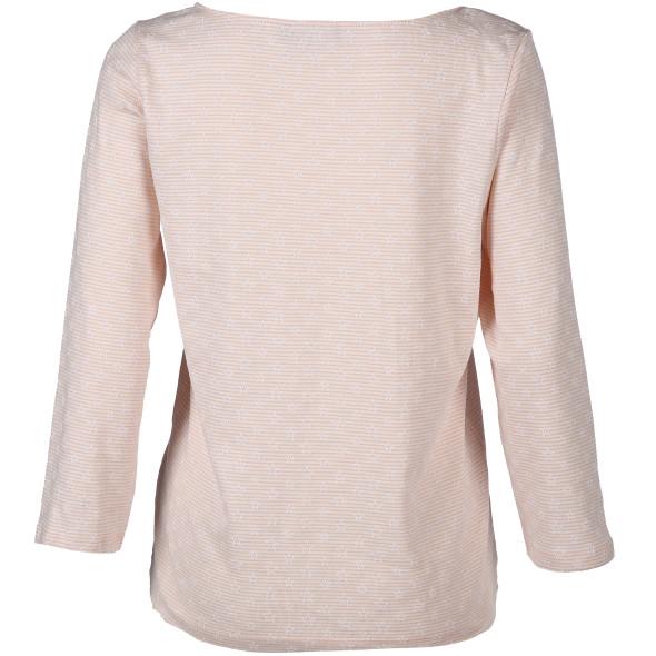 Damen Shirt mit zarten Streifen und Sternen Print