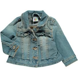 Baby Jeansjacke mit Rüschchen