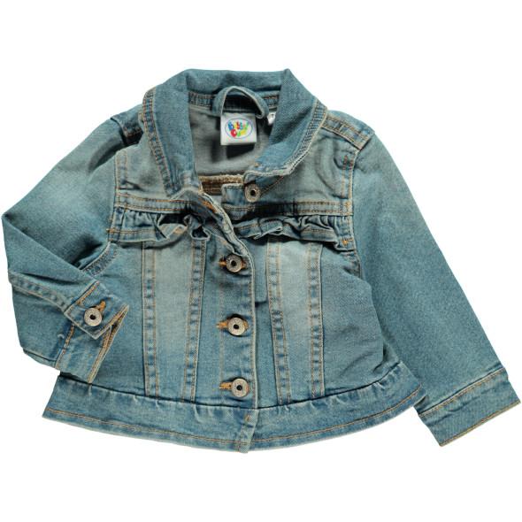 Mädchen Jeansjacke mit Rüschen