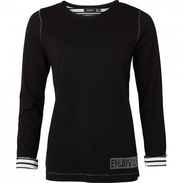 Damen Sweatshirt mit Lurexpaspel
