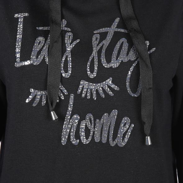 Damen Sweatshirt mit Glitzer Print