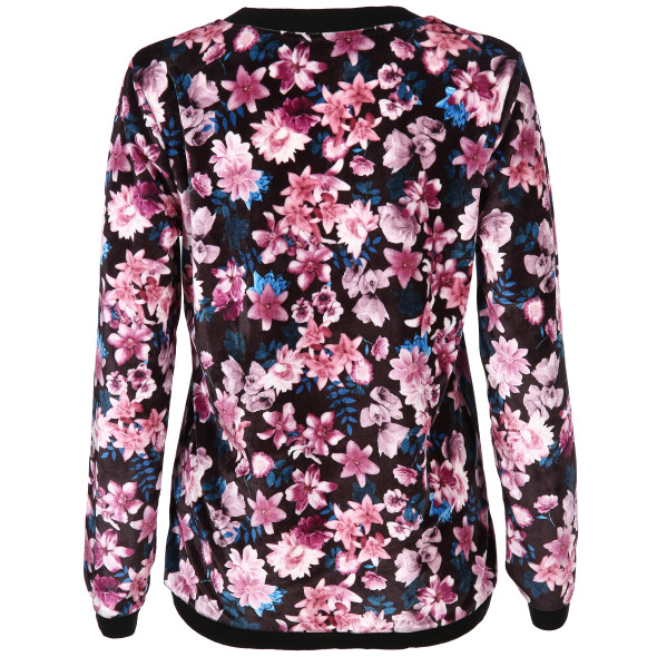 Damen Sweatshirt in floraler Optik
