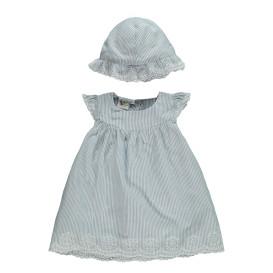 Baby Mädchen Kleid und Mütze