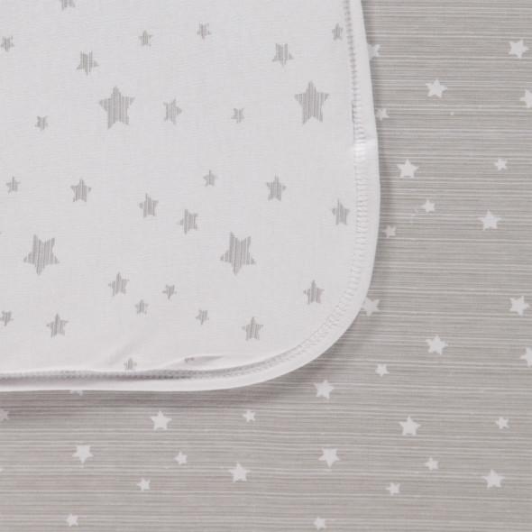Baby Wende- Krabbeldecke im Sterneprint