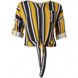 Damen Bluse im Allover-Streifendesign