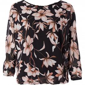 Damen Bluse mit Allover-Blumenprint