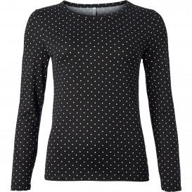 Damen Pullover mit Allover-Punkteprint