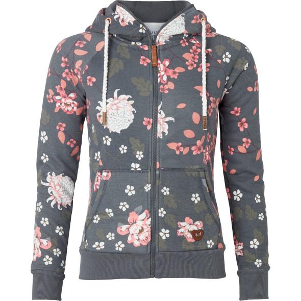 Damen Kapuzenjacke mit Floralprint