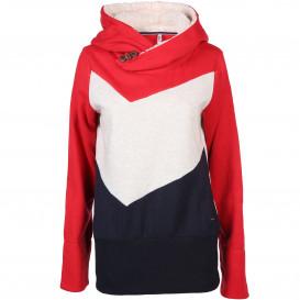 Damen Sweatshirt mit angesetzter Kapuze