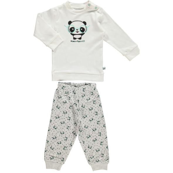 Baby Pyjama mit Panda Print