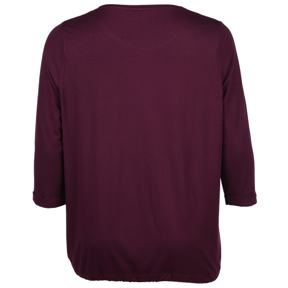 Große Größen Shirt mit 3/4 langem Arm