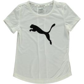 Mädchen Sportshirt mit großem Logoprint