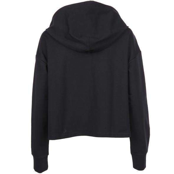 Damen Sweatshirt mit Kapuze in kurzer Form