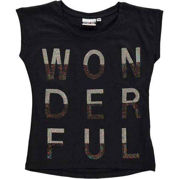 Mädchen Shirt mit Foliendruck