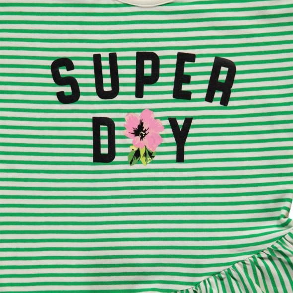 Mädchen Shirt mit Streifen und Frontprint