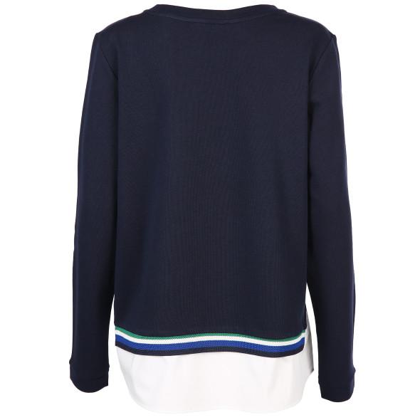Damen Sweatshirt mit Blusenbesatz