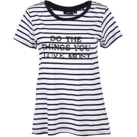 Damen Shirt mit Streifen und Pailletten