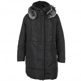 Große Größen Mantel mit abnehmbarer Kapuze