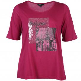 Große Größen Shirt mit Paillettenbesatz und Print