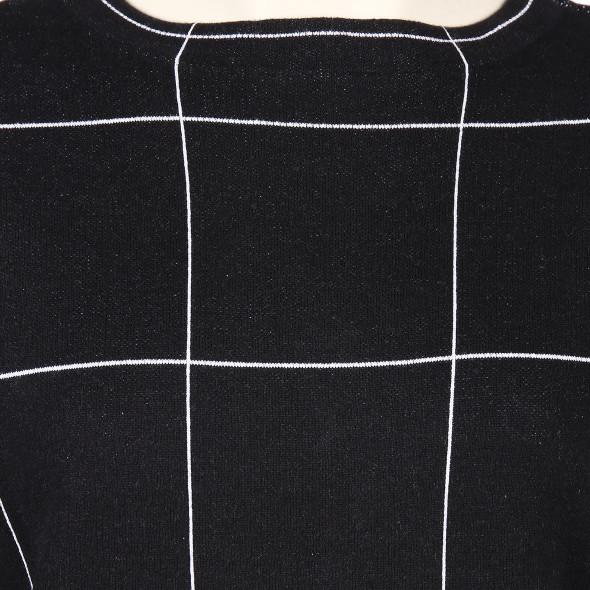 Große Größen Pullover mit Karoabsteppung