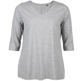 Große Größen T-Shirt mit V-Ausschnitt