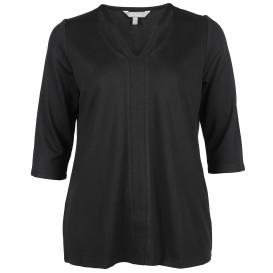 Große Größen Shirt mit raffiniertem Ausschnitt