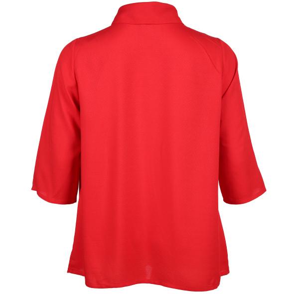Große Größen Bluse mit Schalkragen
